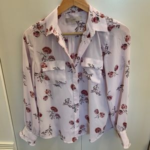 Floral Long Sleeve Button Down